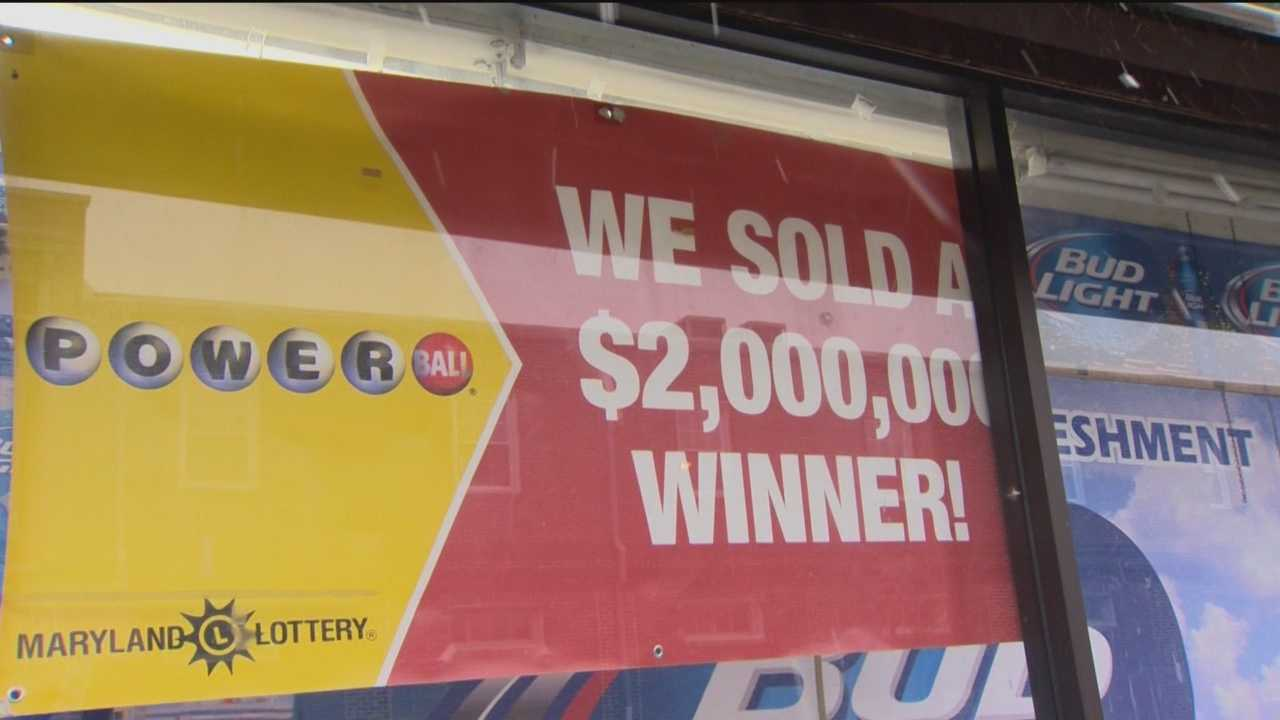 Maryland Lottery officials said a winning second-tier Powerball ticket worth $2 million was sold in Baltimore.