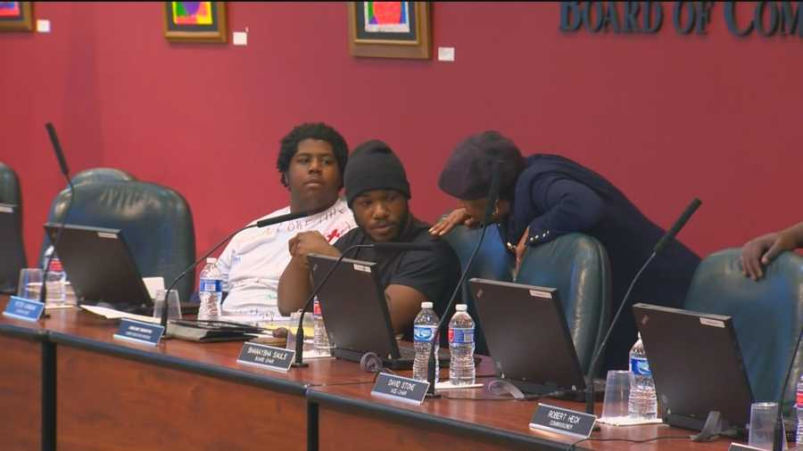 The protesters then took over the board members' seats when they went to recess.  They moved only after agreeing to meet with the board on Friday. Read more here.