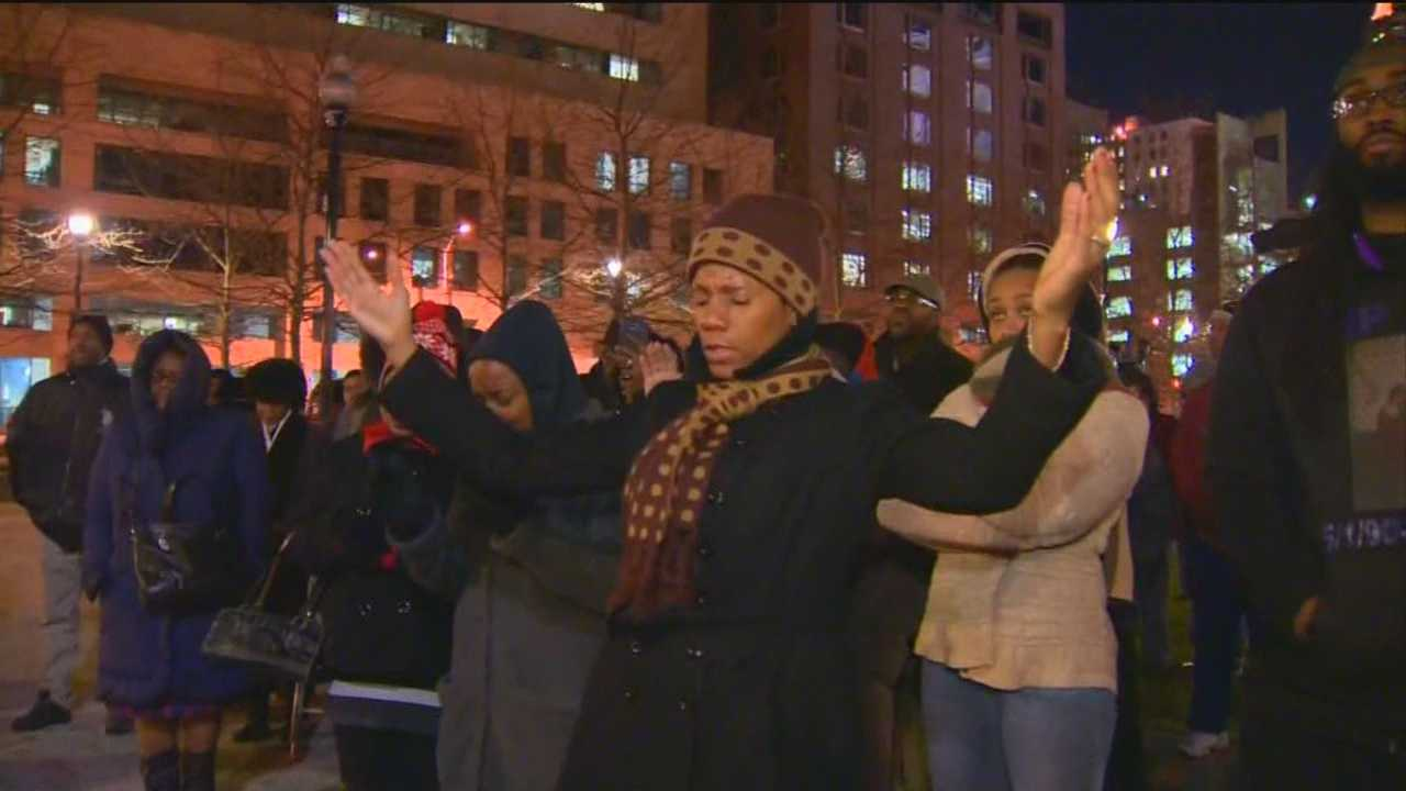 Baltimore Mayor Stephanie Rawlings-Blake hosted an interfaith prayer vigil Wednesday night for the families who have lost loved ones to violence in the city. Kai Reed has more on what the mayor and other interfaith leaders had to say.