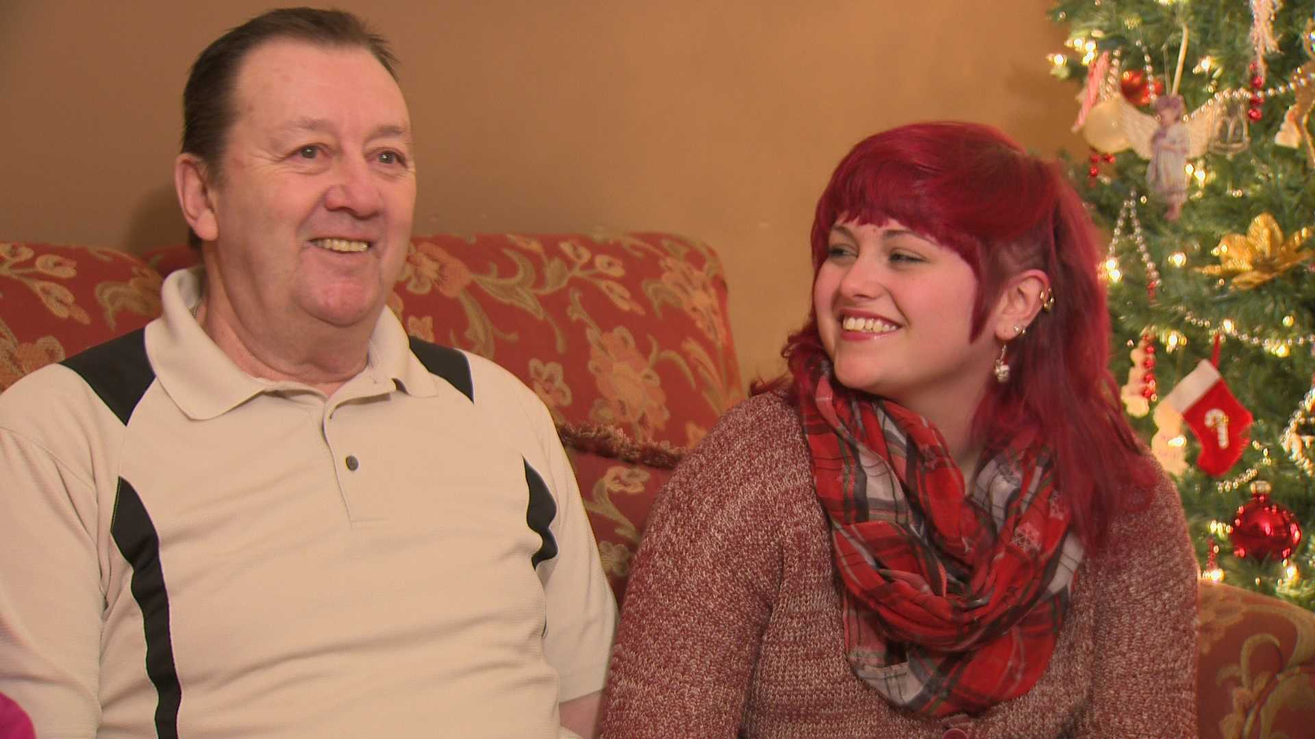 Chelsea Elliott is all smiles after helping save the life of her grandfather, Frank Almsteadt.