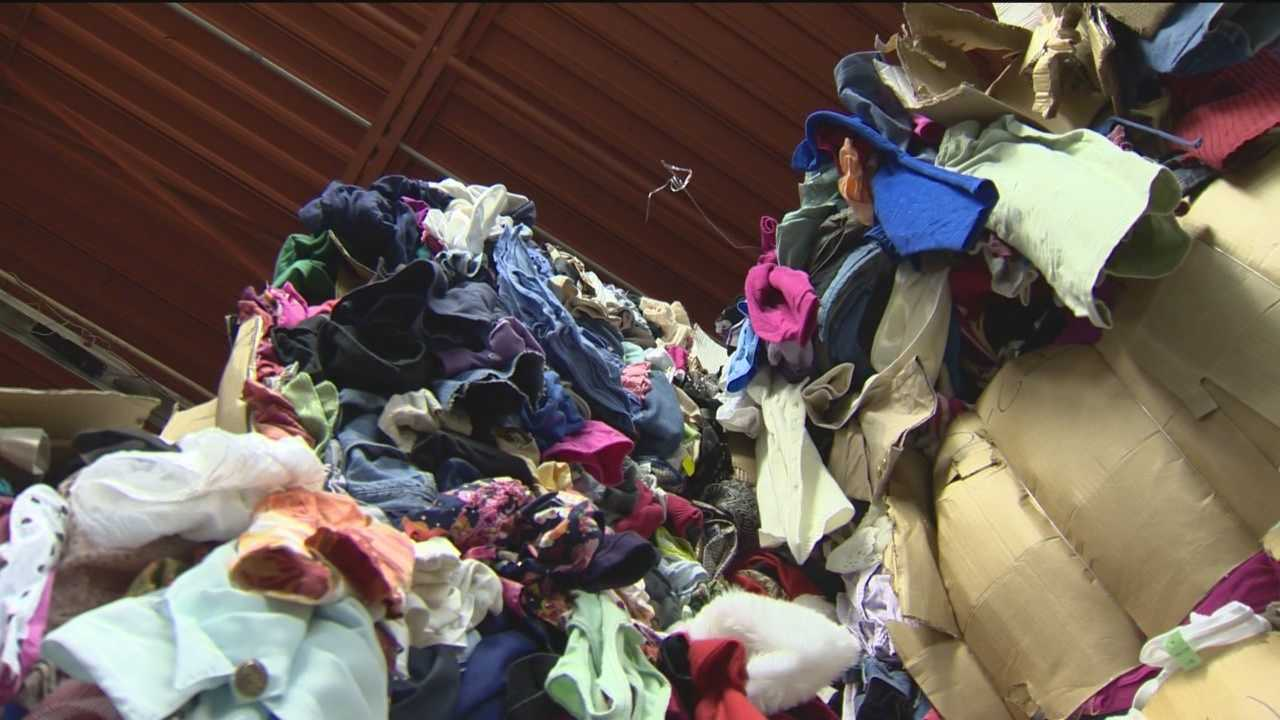 The Salvation Army in Baltimore estimates they get about 75,000 pieces of clothes in their warehouse every week, so what happens to all that?