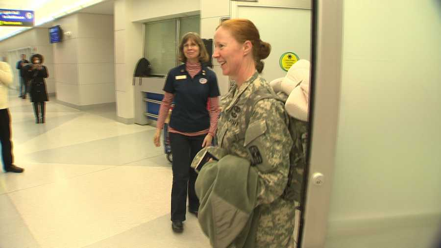More than 300 troops landed at Baltimore Washington International Thurgood Marshall Airport on Tuesday.