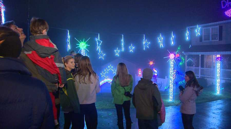 A Howard County man who saw an 11 News report about a young boy with terminal cancer decided he wanted to do something special for the boy's family for the holiday, and he did so in grand fashion.