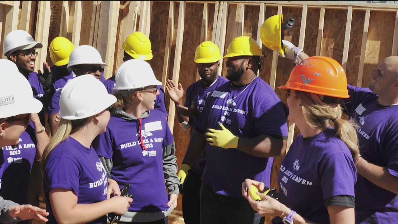 Build-A-Block volunteers are recognized by the Baltimore Ravens with an Honor Row for their community service and that means tickets to this Sunday's game.