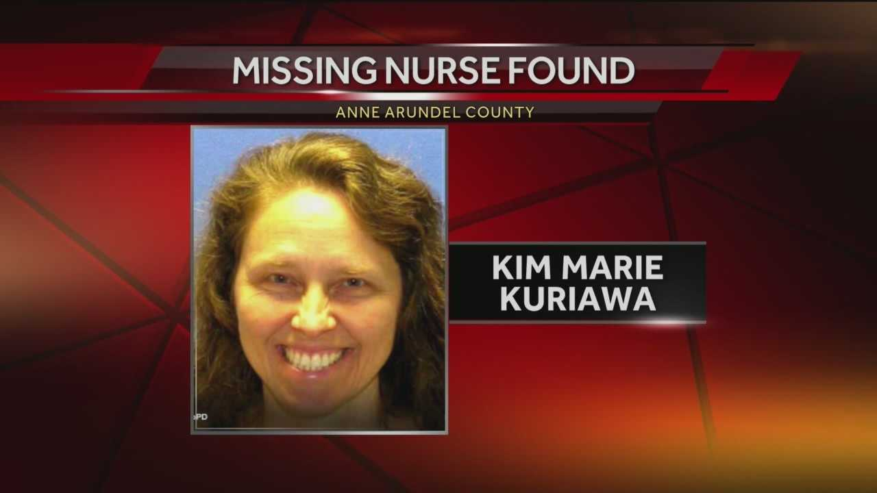 Anne Arundel County police said a missing nurse has been found safe.