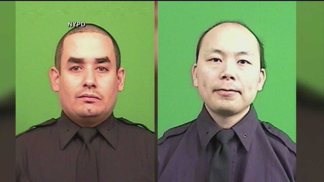 Funeral services are scheduled for Sunday for the second NYPD officer killed in an ambush shooting last month.