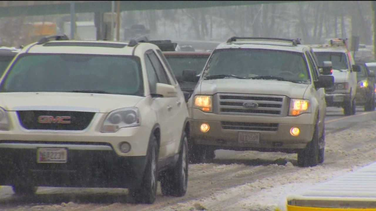 This morning the roads looked more like parking lots for many drivers. Accidents littered many roadways, while commuters where stuck seeing a stream of brake lights.