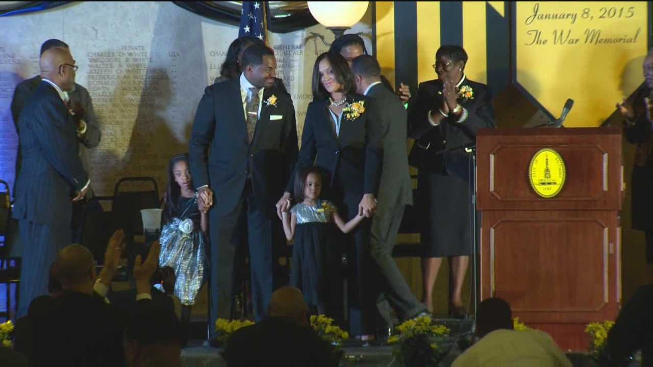 Marilyn Mosby is introduced Thursday as Baltimore City's new state's attorney.
