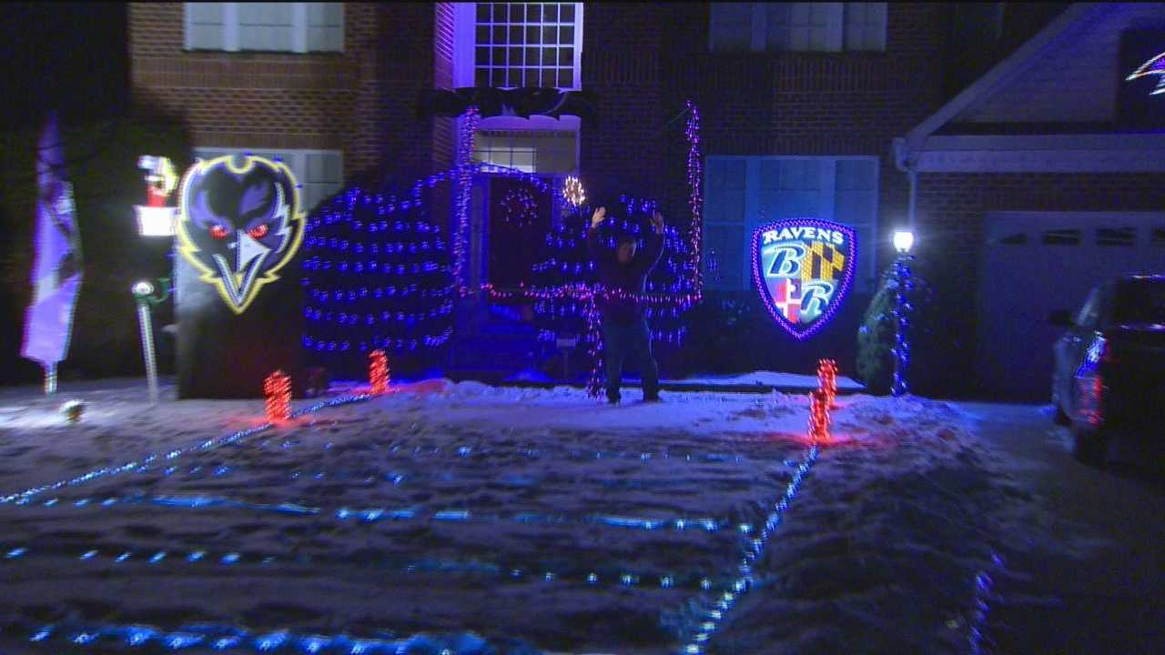 Many people have been showing their purple pride this week as the Baltimore Ravens get set to take on the New England Patriots in the playoffs, but one fan is taking it to a new level. 11 News reporter Vanessa Herring caught up with him at his Ellicott City home.