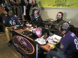 98 Rock broadcasts live at the Purple Friday Fuel Up at Hightopps in Timonium.