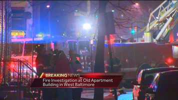 No injuries were reported, but the smoke forced several nearby rowhome evacuations. Officials said about 10 families are being taken care of by the Red Cross.