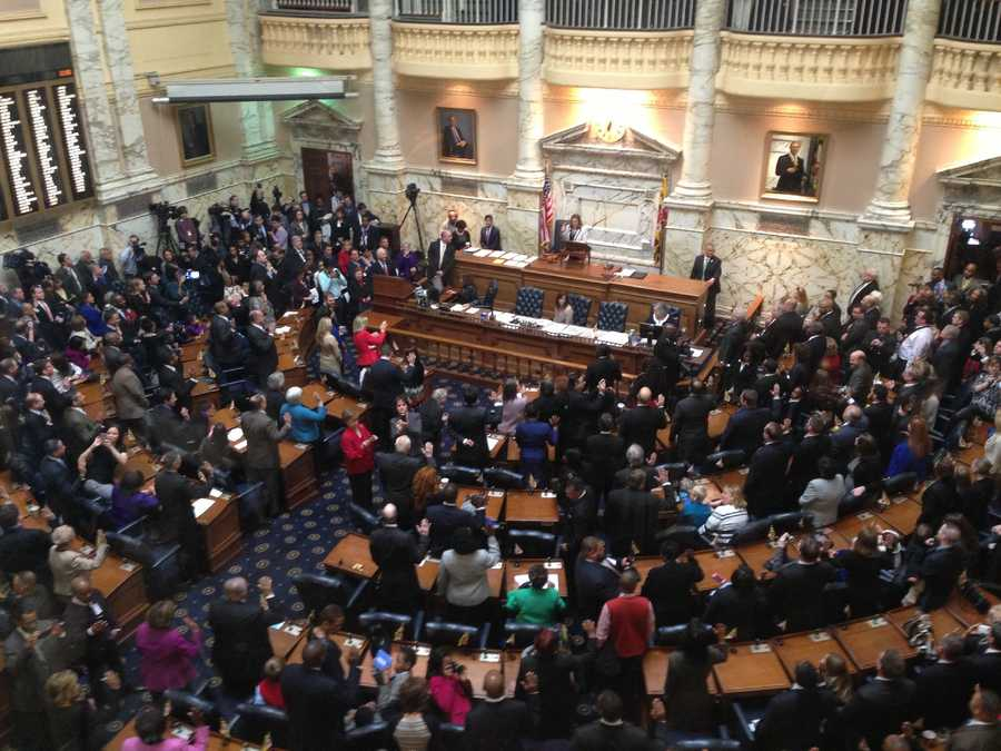 Members of the House of Delegates are sworn into office.