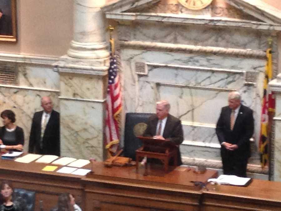 Hogan addresses House members.