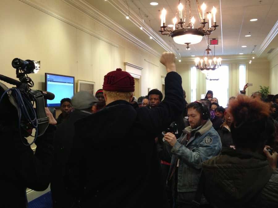 Jan. 15: A group rallies for equal justice in Annapolis.