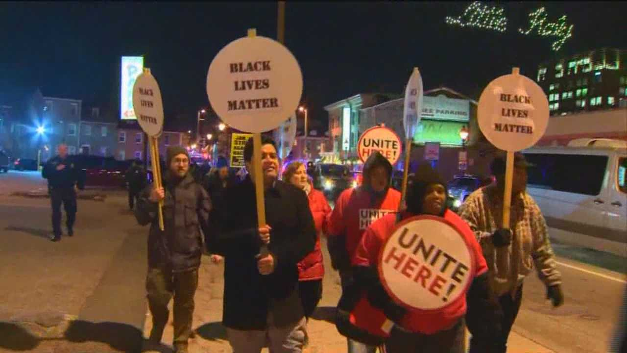 Several protests against police brutality and militarization took place Thursday as part of a National Day of Action. Karen Campbell has more details from one of those protests spots in downtown Baltimore's McKeldin Square.
