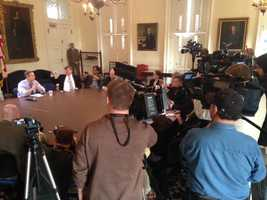 Outgoing Gov. Martin O'Malley gives his last news conference Friday.