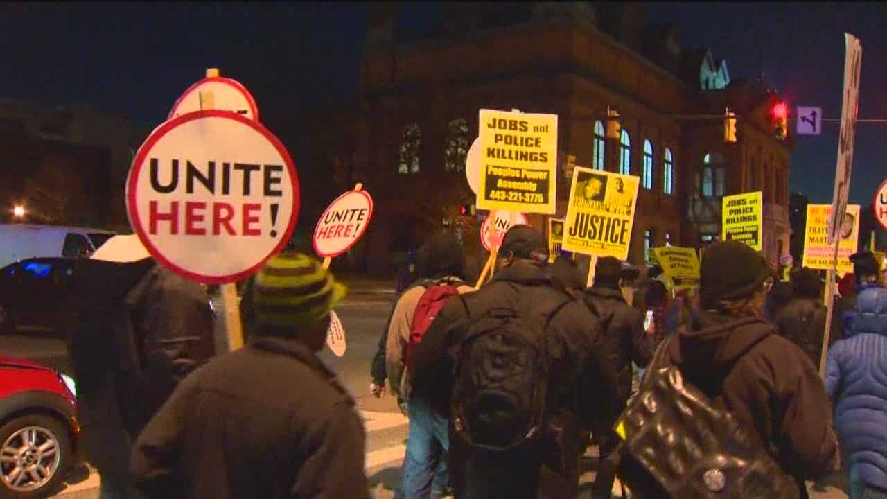 Protesters say they were blocked from delivering a letter at Baltimore police headquarters
