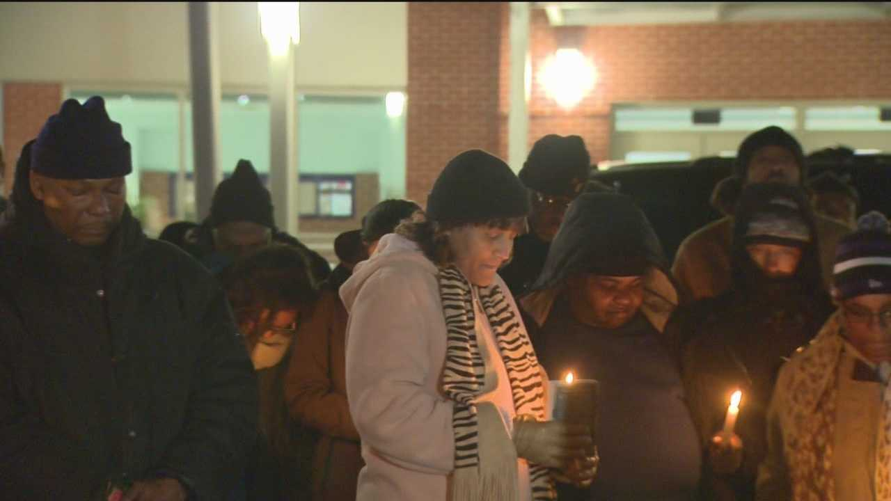 Dozens of people gathered in northeast Baltimore Monday night to pray for peace just steps from where two men were killed over a parking space.  Kai Reed has more on how the speakers felt it was the right thing to do on the observance of Dr. Martin Luther King Jr.'s birthday.