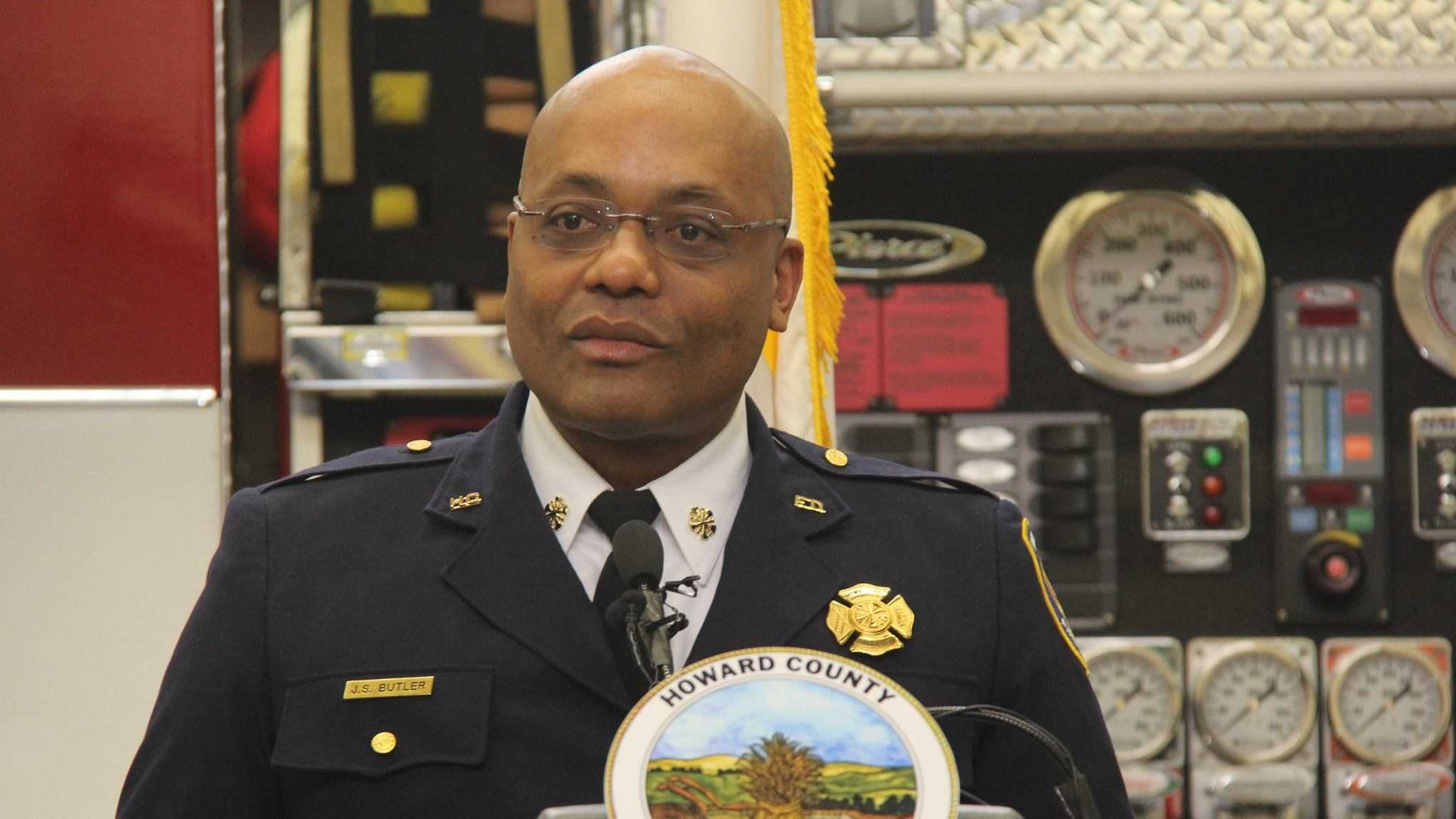 John S. Butler named as new Howard County fire chief.