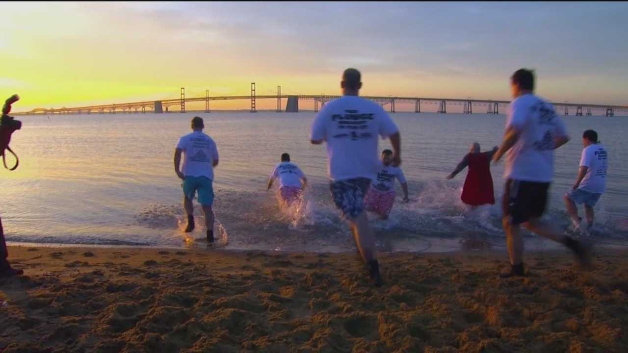 Some 7,000 plungers will head into the chilly waters of the Chesapeake Bay this weekend to raise money for the Special Olympics of Maryland.