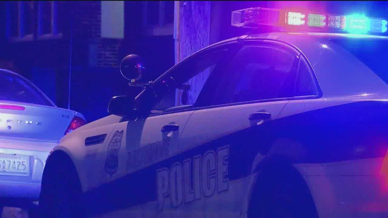 Baltimore police said an officer was forced to shoot a man in the northwest part of the city Thursday night after a foot chase turned into a physical struggle.