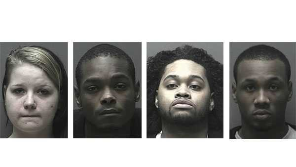 Amber Parks (left), Timothy Parland (second), Briondre Gaines (third), Khalil Scruggs (right)