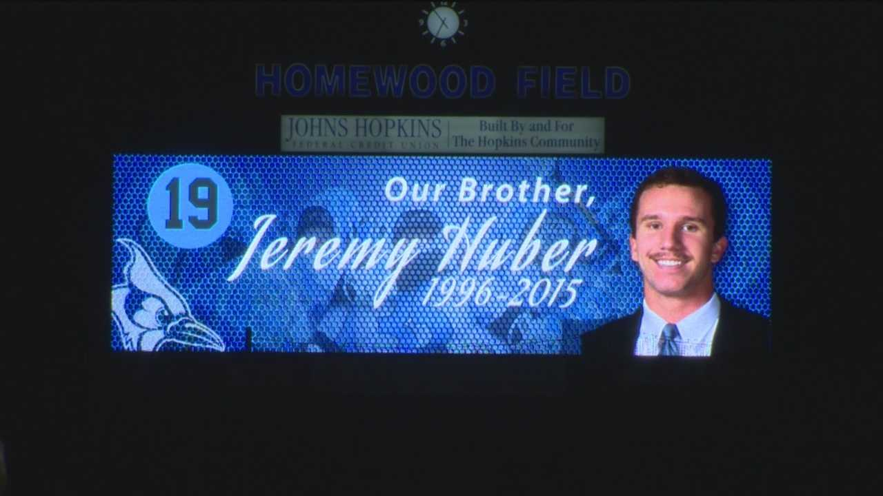 JHU's lacrosse team remembers freshman Jeremy Huber.