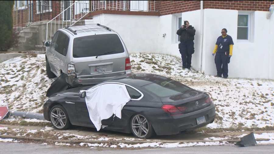 Baltimore City detectives are trying to figure out what led to a double shooting and car crash in the southwest part of the city.