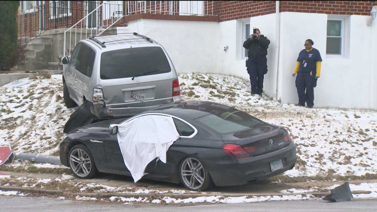 Baltimore City detectives are trying to figure out what led to a double shooting and car crash in the southwest part of the city on Thursday.