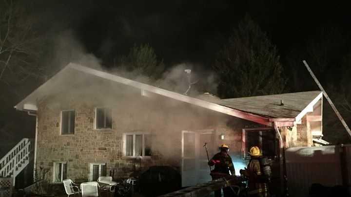Crews battle an overnight fire in Churchville