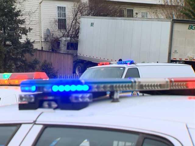 The crash happened at a home along Honeygo Boulevard near Cross Road around 7:40 a.m.