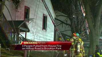 A two-alarm fire in Brooklyn Park early Tuesday morning destroys a home, killing three people.
