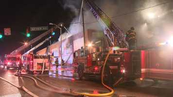 Baltimore City firefighters had to battle a two-alarm warehouse fire in the southeast part of the city Tuesday evening.