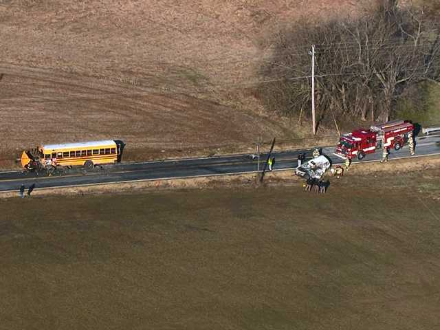 The Frederick County Sheriff's Office is investigating a fatal crash involving a public school bus.
