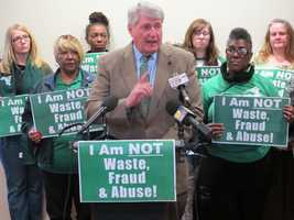 Feb. 12: House Speaker Michael Busch supports AFSCME