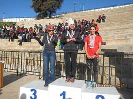 Kim in Tunisia with Maria Conceicao #2 and Suzette McIvor 1st place