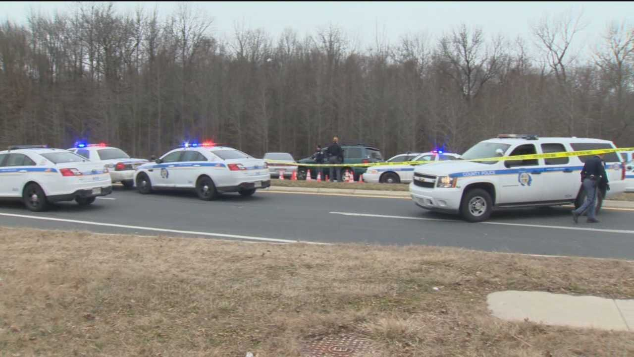 A man is dead and a police officer is injured after a pursuit in Baltimore County Saturday morning.