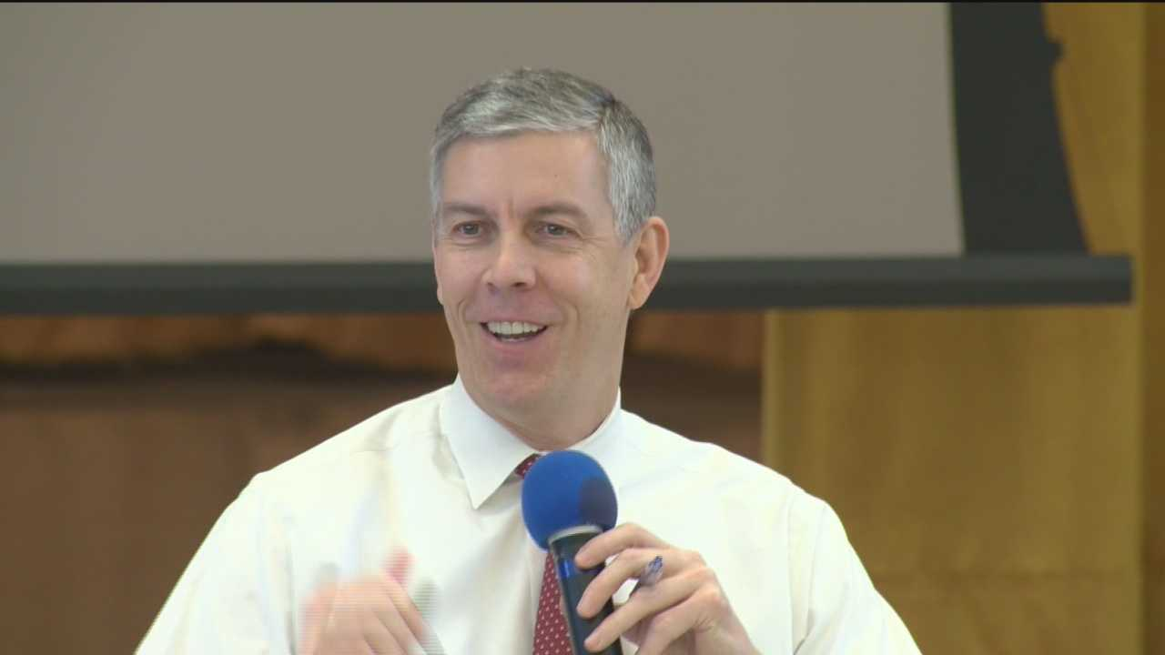 Education Secretary Arne Duncan was on listening tour at Maryland schools at a time when Congress is set to make changes in the education law, No Child Left Behind.