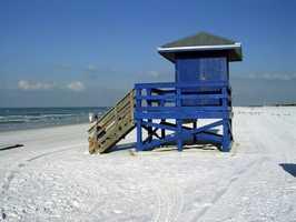 Siesta Beach in Siesta Key, Florida was named No. 1.
