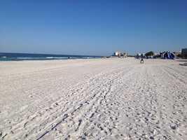 Taking the No. 2 spot is Saint Pete Beach in Saint Pete Beach, Florida.