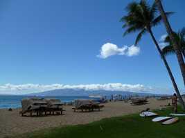 Ka'anapali Beach in Lahaina, Hawaii came at No. 3.