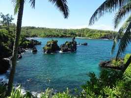 The No. 4 spot goes to Wai'anapanapa State Park in Hana, Hawaii.