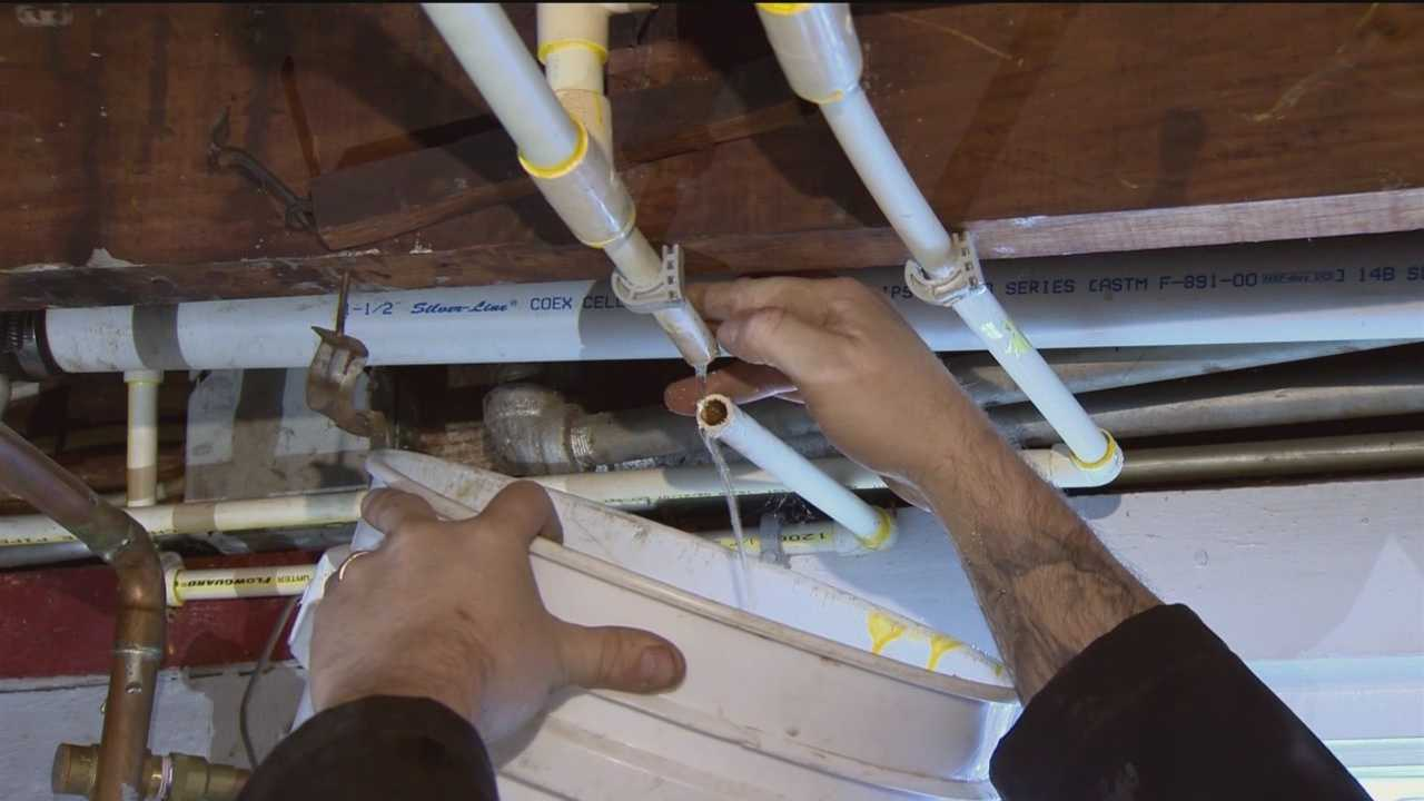 Plumbing problems are prevalent amid below-freezing weather in Maryland.