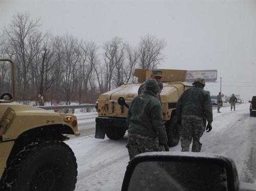 National Guard helping stranded drivers along Route 140 in Finksburg