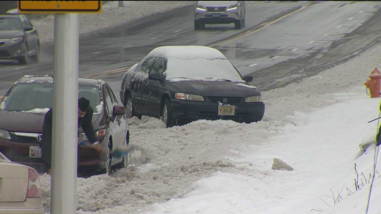 Baltimore City said it has started to ticket and tow cars Monday morning that are parked illegally due to the weekend snowstorm.