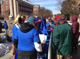 Feb. 24: Hundreds of people gather for a rally on Lawyers Mall calling for the passage of bills to help clean up the Chesapeake Bay.