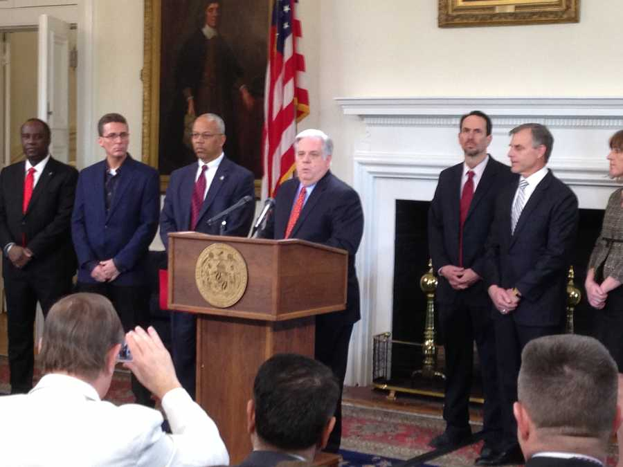 Feb. 24: Gov. Larry Hogan holds a news conference to address the heroin epidemic in the state.