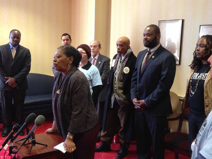 Feb. 24: Baltimore City Sen. Joan Carter Conway and Del. Cory McCray joined ex-offenders to support bills that will extend voting rights to former prisoners when they are released from jail. Currently Maryland law prohibits them from voting until they have finished their terms of probation and parole.