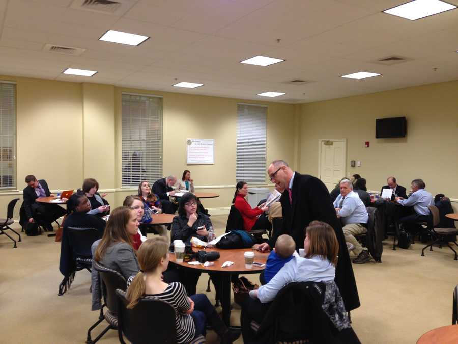 Feb. 26: Governor charter school and tax credit bill overflow room.