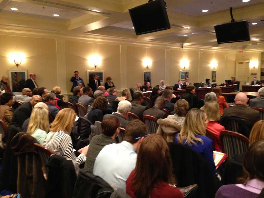 Feb. 26: Standing room only governor's charter school bill.